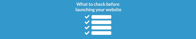 Website prelaunch checklist